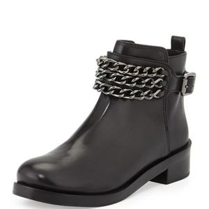 Tory Burch Bloomfield Chain Leather Bootie